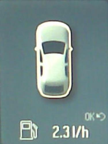 Anzeige des Momentanverbrauchs auf dem Bildschirm des Convers+.