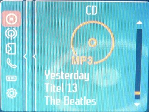 MP3 Informationen zur aktuellen Wiedergabe.