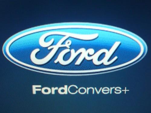 Startbildschirm des Ford Convers+.