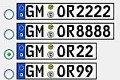 Auswahl der verfügbaren Kennzeichen im Oberbergischen Kreis für die Buchstabenkombination OR und Schnapszahlen.